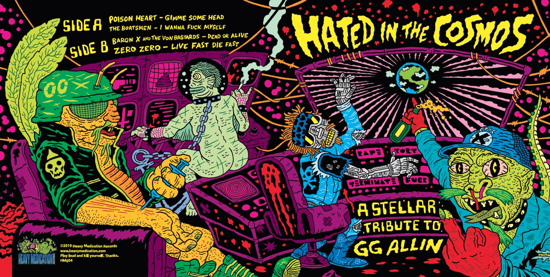 V/A - Hated in the Cosmos: A Stellar Tribute to GG Allin 7